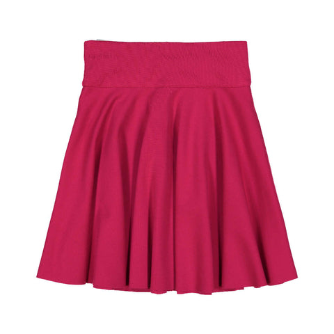Teela Girls' Fuchsia Ponte Circle Skirt