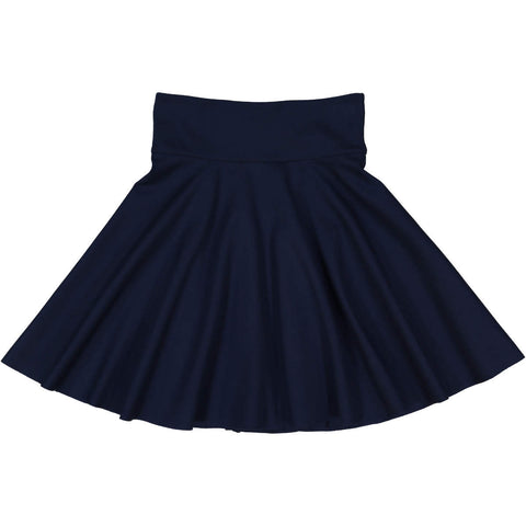 Teela Girls' Navy Ponte Circle Skirt