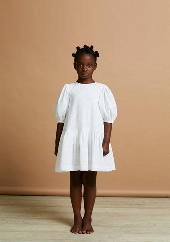 The Middle Daughter White Broderie Anglaise Up, Up & Away Dress