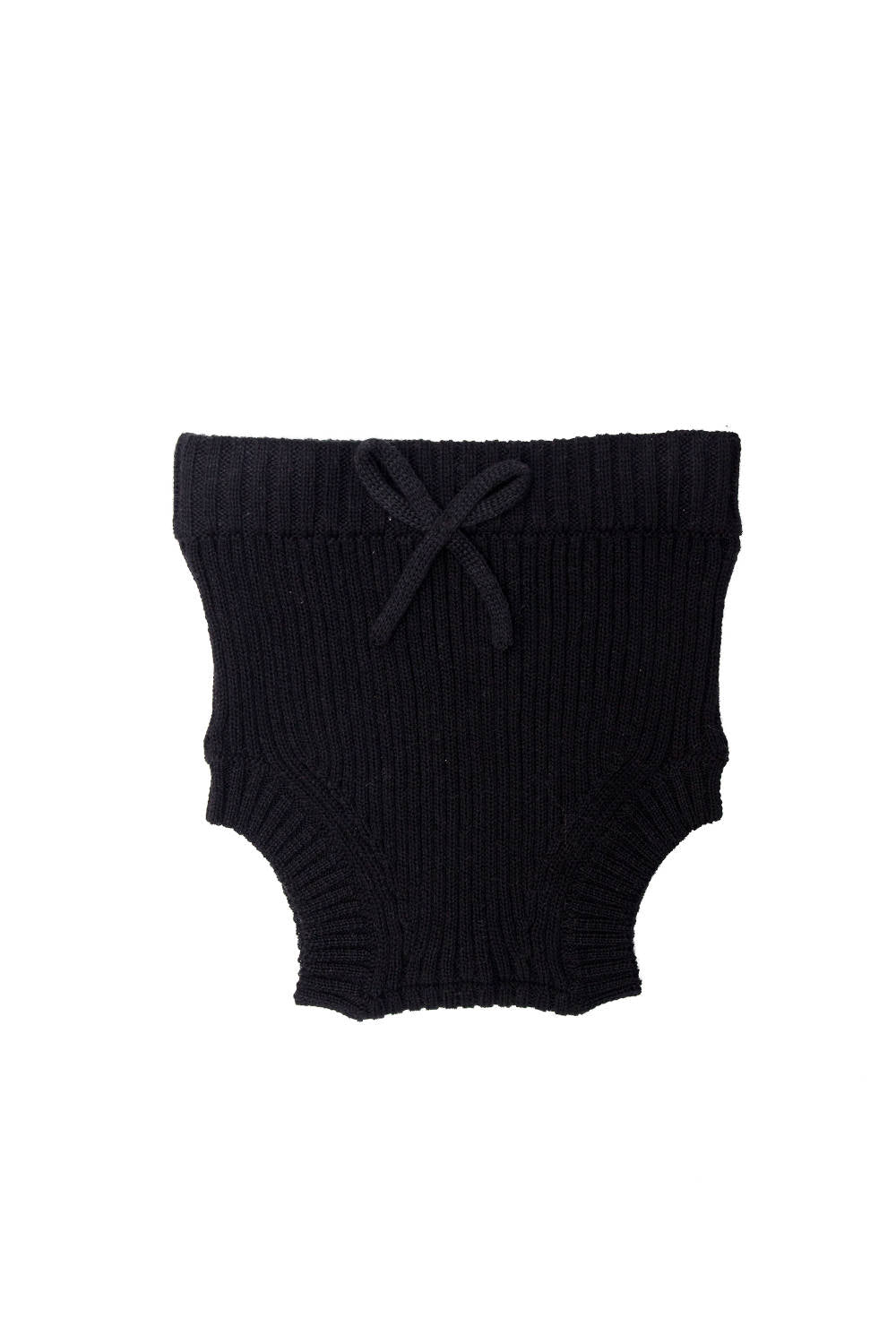 Tun Tun Unisex-baby' Black Knitted Bloomer