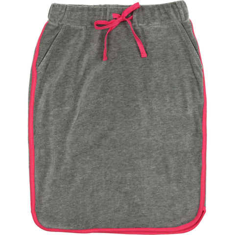 Urbani Grey Velour Neon Skirt