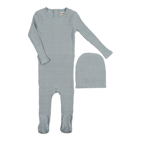 Urbani Slate Striped Footie Set