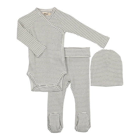 Urbani White/Black Striped Gift Set