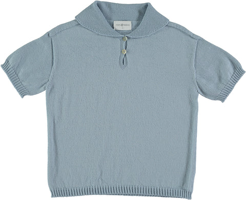 Violeta Blue Knit Polo