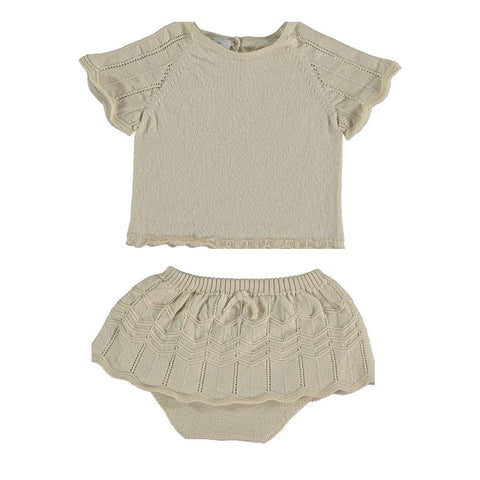 Violeta Bone Knit Dance Set