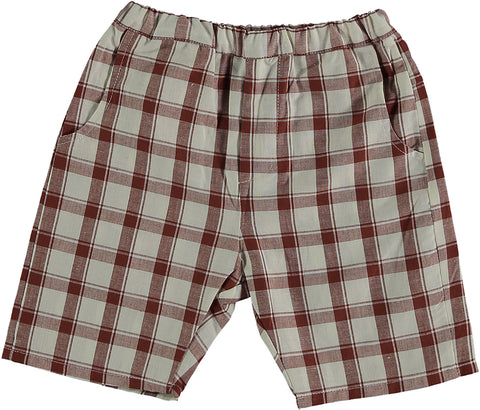 Violeta Brown Check Boris Shorts
