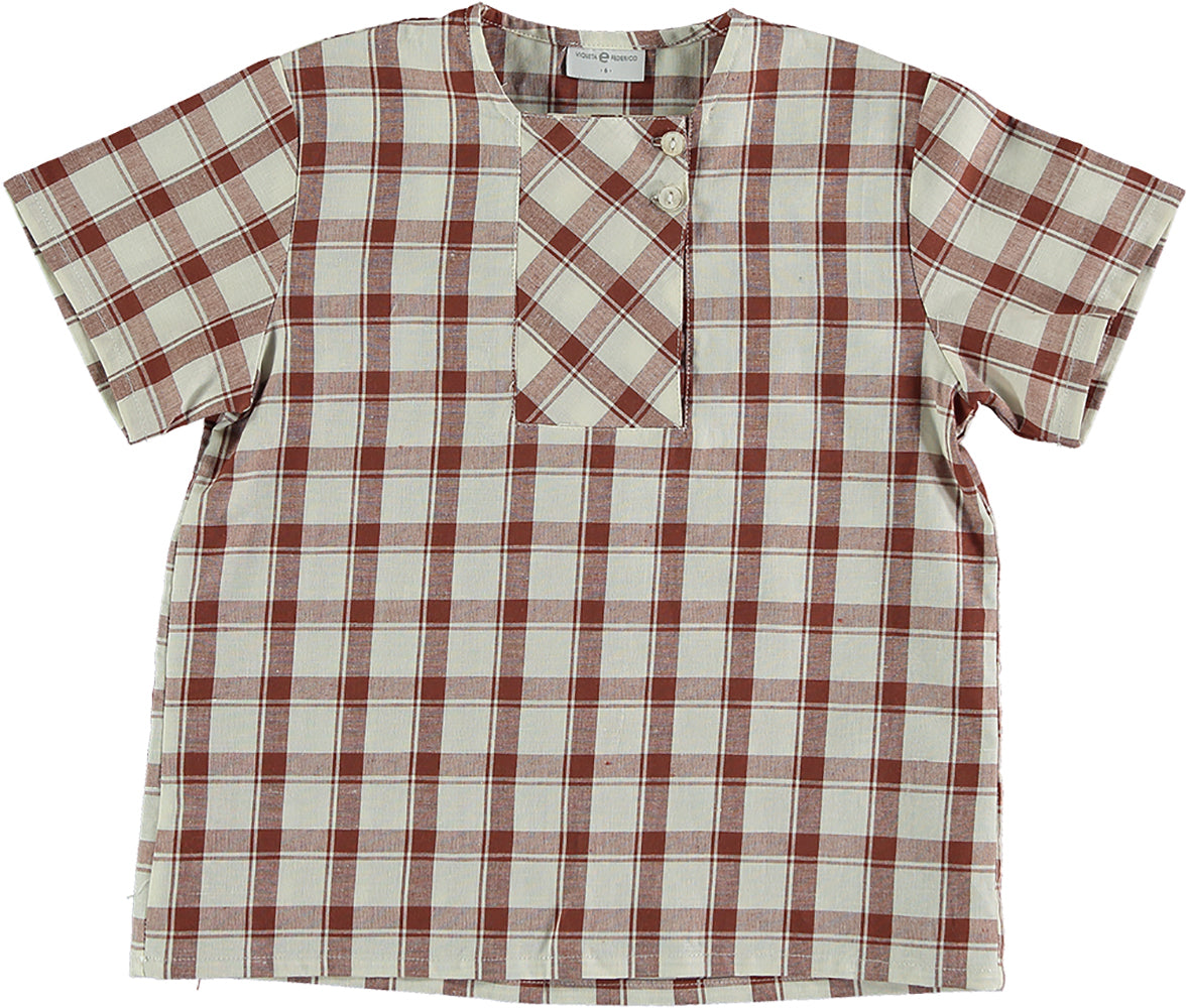 Violeta Brown Check Vida Shirt