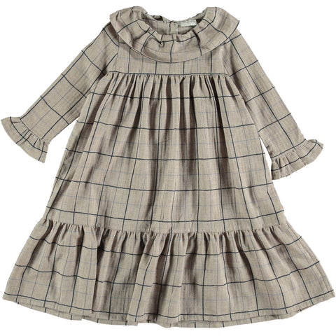 Violeta Brown Plaid Dress