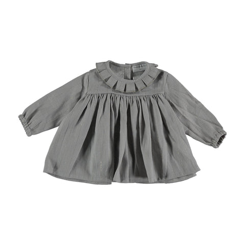 Violeta Grey Lurex Detail Shirt