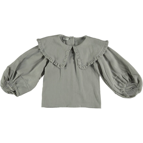 Violeta Grey Oversized Collar Shirt