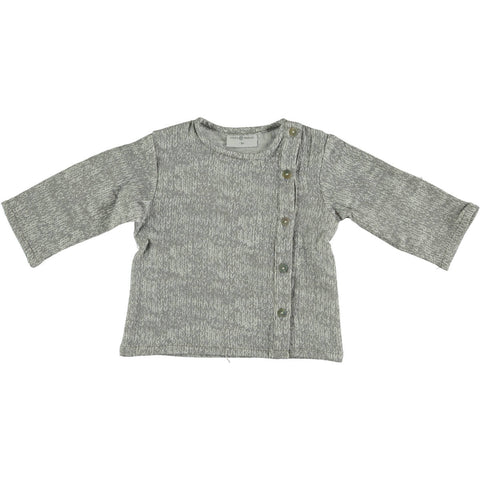 Violeta Grey Side Button Shirt