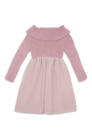 Violeta Pink Half Knit Dress