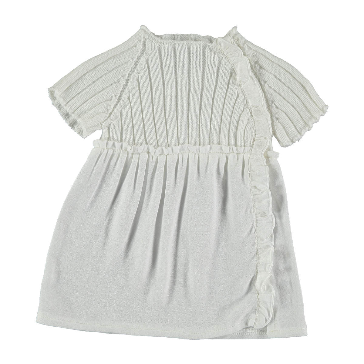 Violeta e Federico Girls' White Knit Lulu Dress