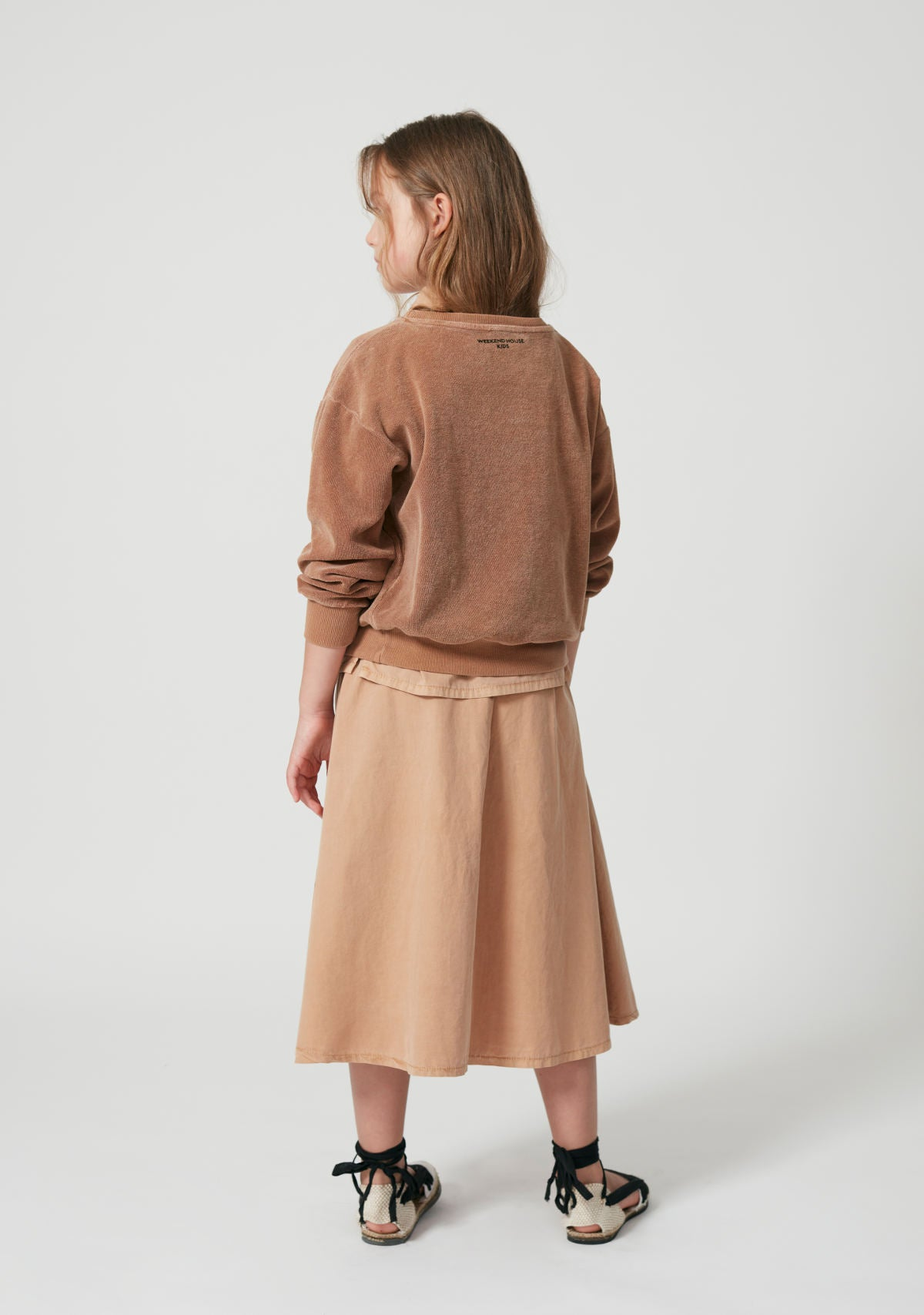 Weekend House Kids Camel Flamingo Skirt
