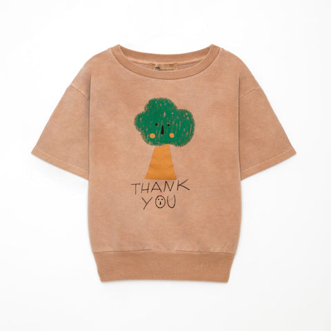Weekend House Kids Camel Tree Short Sweatshirt