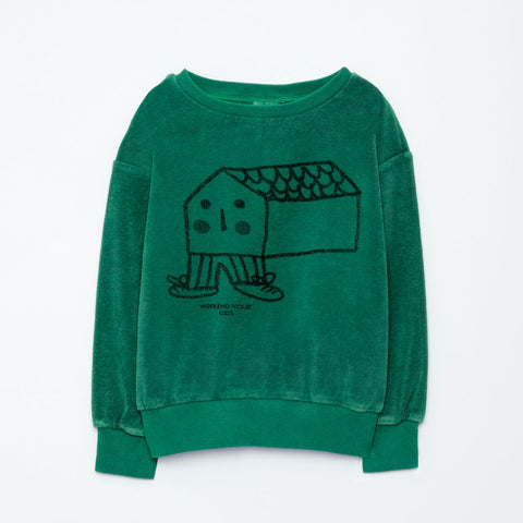 Weekend House Kids Green House Sweatshirt