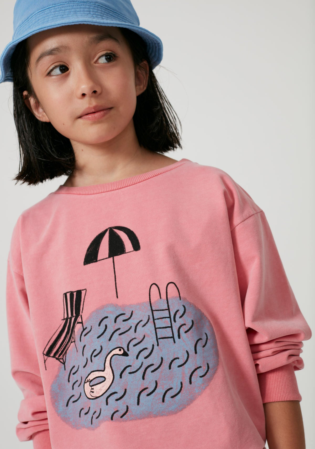 Weekend House Kids Pink Sweatshirt