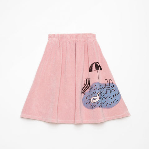Weekend House Kids Soft Pink Terry Pool Skirt