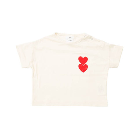 Wynken Off White Twin Heart T-Shirt