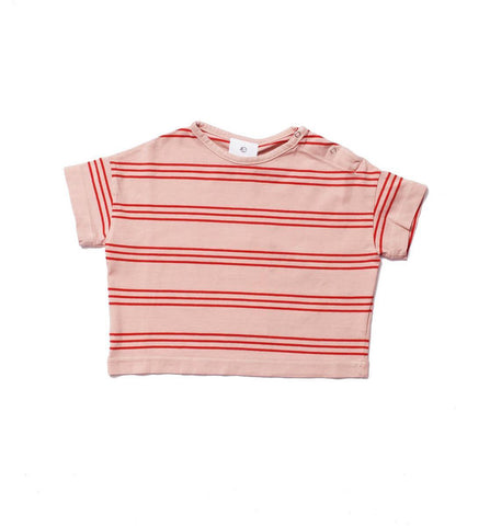 Wynken Pink Earth Stripe T-Shirt