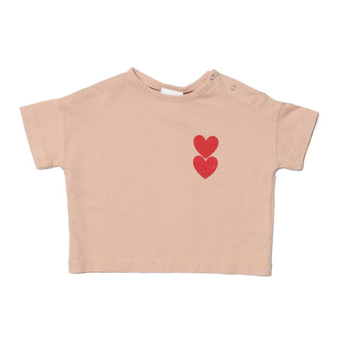 Wynken Pink Earth Twin Heart T-Shirt