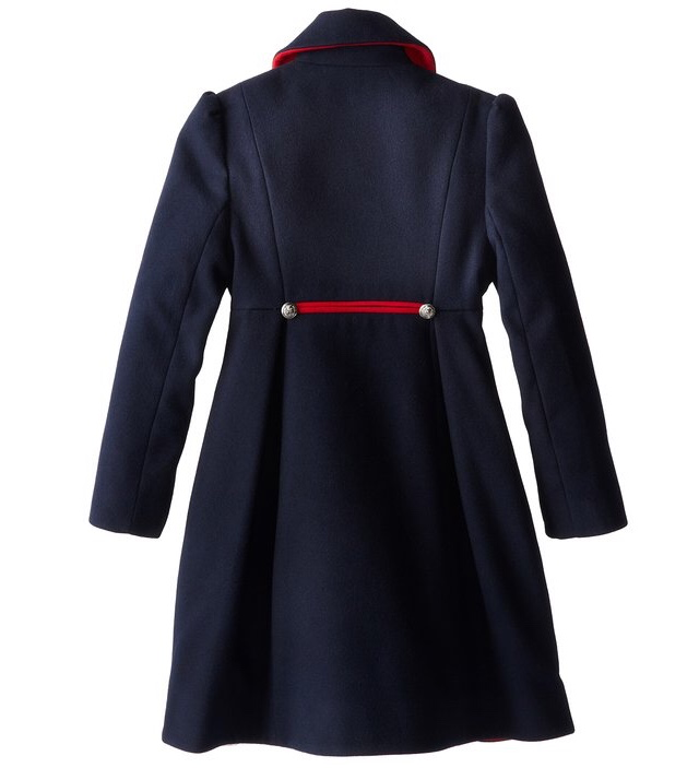 Rothschild Midnight Faux Wool Petal Front Military Coat - Young Timers Boutique  - 2