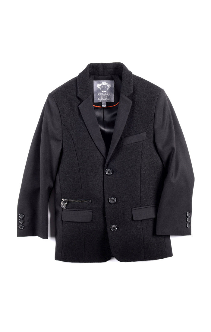 Appaman Black Techy Blazer - Young Timers Boutique  - 3