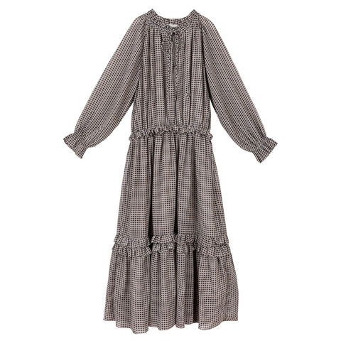 Sweet Threads Silky Plaid Carmin Dress