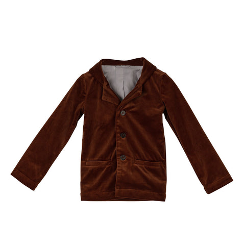 Sweet Threads Rust Velvet Blazer