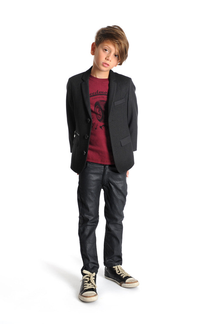 Appaman Black Techy Blazer - Young Timers Boutique  - 2