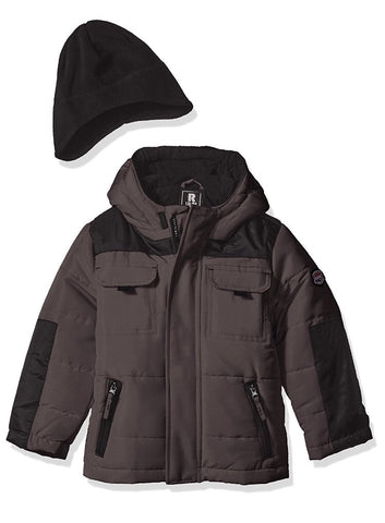 Rothschild Boys' 2 Tone Bubble Jacket with Hat - Young Timers Boutique  - 1