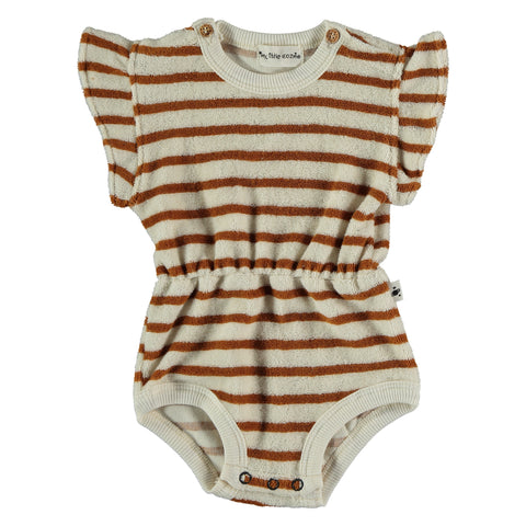 My Little Cozmo Peanut Terry Jewel Romper