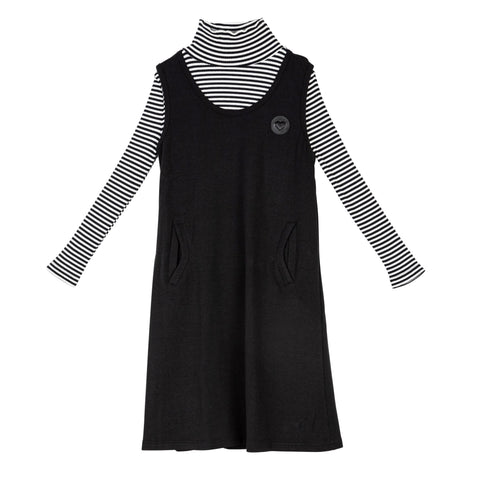 Froo Style Striped Jumper Dress