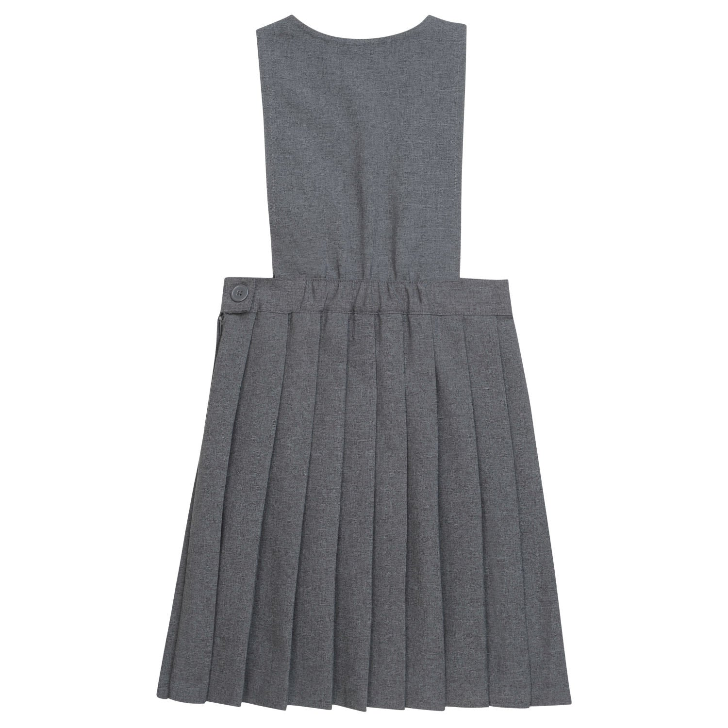 French Toast Grey V-Neck Pleated Jumper - Young Timers Boutique  - 2
