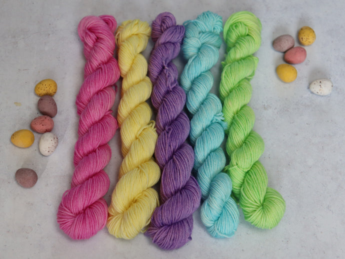Spring Pastels mini skein set sock/4ply