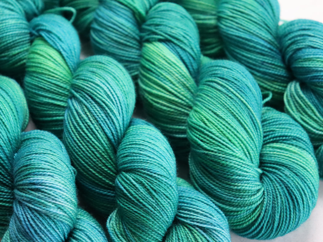 Lagoon titanium/high twist sock/4ply