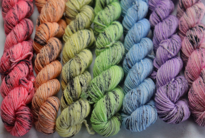 pastel speckled mini skein set sock/4ply