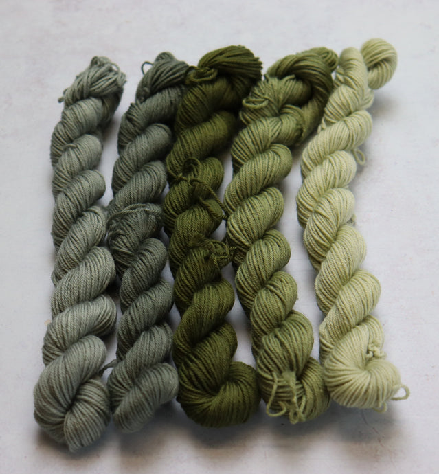 Khaki fade mini skein set sock/4ply