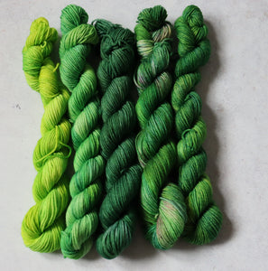 Mixed greens mini skein set sock/4ply