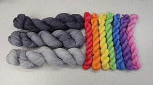 Rainbow mini skein sets