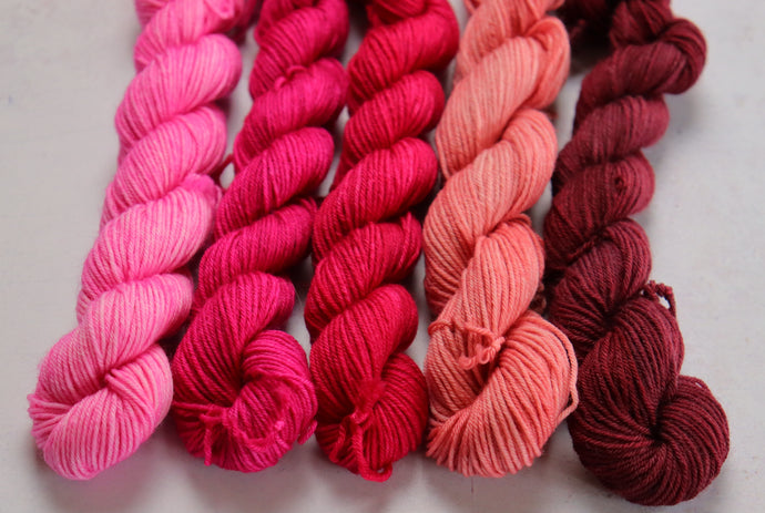 Pink mini skein set sock/4ply