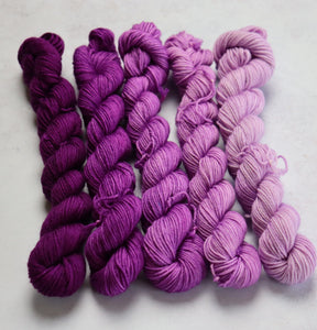 Purple mini skein set sock/4ply