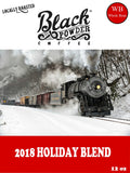 Medium Dark Roast Coffee - 2018 holiday coffee blend - train winter scene