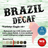 Brazil Swiss Water Process Decaf Mongolia Region Single Origin Coffee Beans