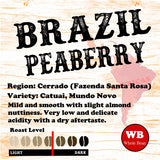 Brazil Peaberry Pocos De Caldes Single Origin Coffee Beans