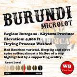 Burundi Butegana Kayanza Province Single Origin Coffee Beans