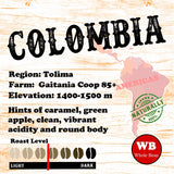 Colombia Tolima Single Origin Organic Coffee Beans
