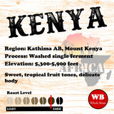 Kenya Kathima AB Mount Kenya Single Origin Coffee Beans