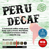 Peru Swiss Water Process Decaf Single Origin Organic Coffee Beans