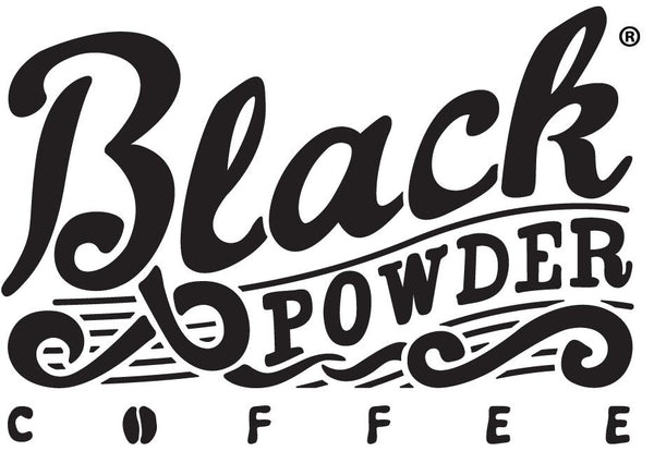 Black Powder Coffee registered trademark. Woman owned and family operated business. Local, regional, National coffee. Best Coffee..